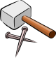 outline-drawing-cartoon-tools-hammer-nail-free